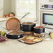 Copper-Colored Ceramic Finish Cookware Set