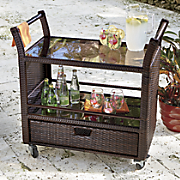Rolling Wicker Cart