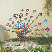 colorful peacock figurine