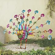 colorful peacock figurine