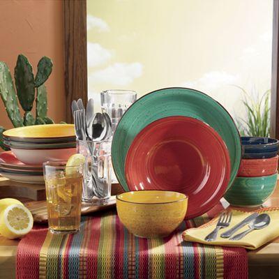 Color Speckle 28-Piece Assorted Dinnerware Combo Set