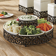 7 pc  danbury chip  n dip tray