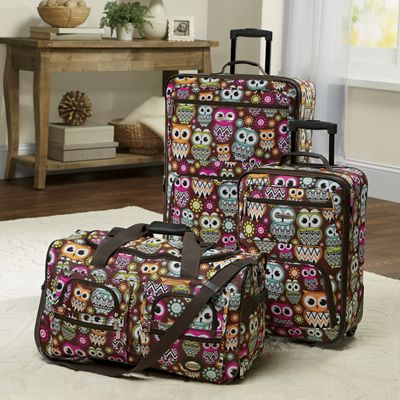 Owls Soft-Sided Luggage Set