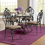 Glass-Top Table and Dining Chairs