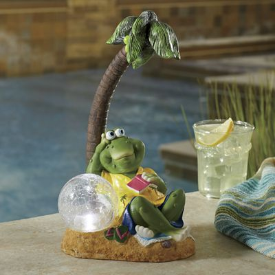 Solar Relaxing Frog with Light
