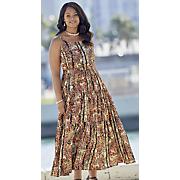 earthy floral dress 1