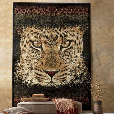 """Leopard Eyes Rug - 5' 3"""" X 7' 2"""""""