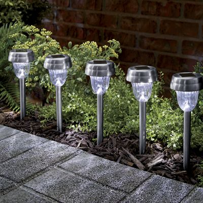 Solar Stake Light Set
