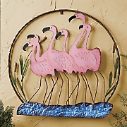 Flamingo Wall Circle Décor