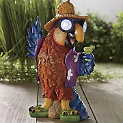 beach parrot solar light decor