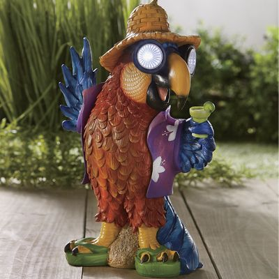 Beach Parrot Solar Light Décor