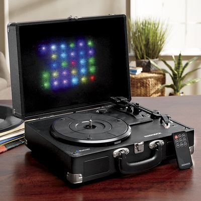Suitcase Turntable System with Decorative Lights by Magnavox