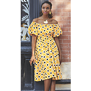 nefertari off the shoulder dress