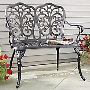 Scrolled Bronze Butterfly Bench
