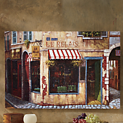 afternoon cafe canvas