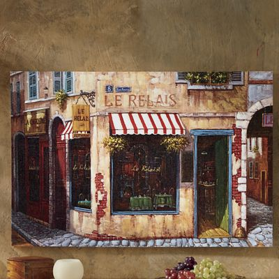 Afternoon Café Canvas