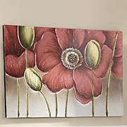 poppy buds canvas