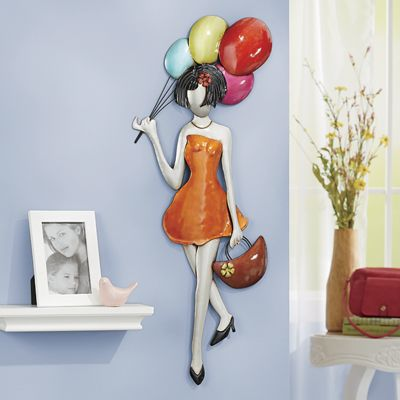 Balloon Shopping Lady