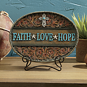 faith  hope  love decorative plaque