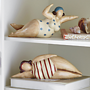 set of 2 swimming ladies
