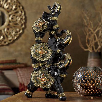 Stacked Jeweled Elephants