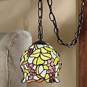stained glass grapes pendant