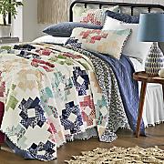 clara print patch oversized quilt