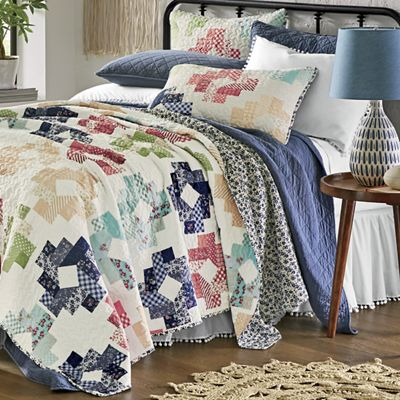 Clara Print Patch Oversized Quilt and Sham