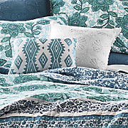 aqua flora accent pillow by jessica simpson
