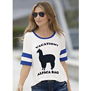 alpaca striped sleeve tee