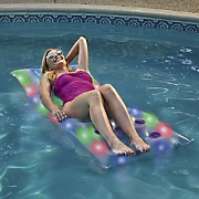 Illuminated Deluxe Pool Raft by Pool Candy