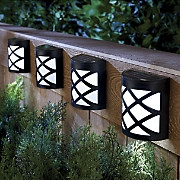 4 pc  solar deck light set