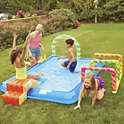 banzai obstacle course pool by bestway
