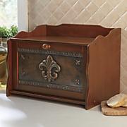 Coppertone Fleur-De-Lis Bread Box