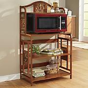 Coppertone Fleur-De-Lis Microwave Stand