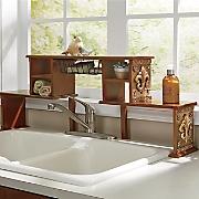 Coppertone Fleur-De-Lis Over The Sink Shelf
