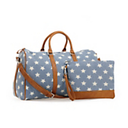 Chambray Star Weekender with Pouch
