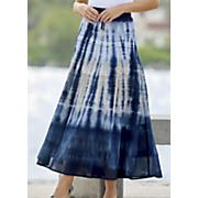 blue tie dye skirt 70