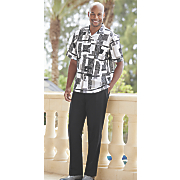Mens' Printed Shirt with Pant by Stacy Adams