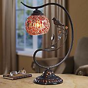 Mosaic Globe Touch Lamp