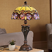 Floral Stained Glass Table Lamp