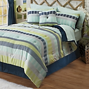 Danbury Complete Bed Set, Accent Pillow and Window Treatments