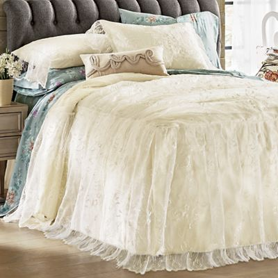 Bianca Lace Bedspread and Sham