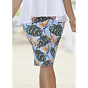 tropical pencil skirt