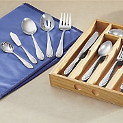 Lace Frosted 54-Piece Flatware Set by Hampton Forge