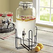 Beverage Dispenser with Rack