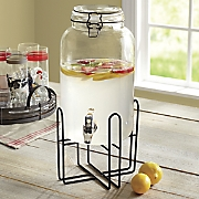 Beverage Dispenser with Rack
