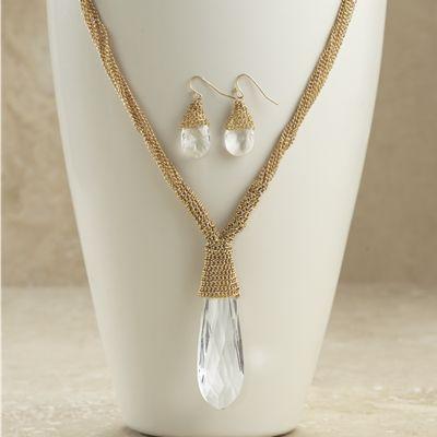 Briolette Necklace/Earring Set