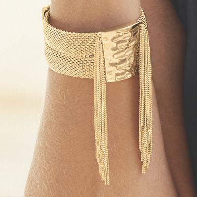 Mesh/Fringe Bracelet