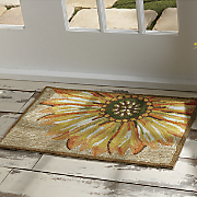 sunflower indoor outdoor mat   1  8  x 2  6
